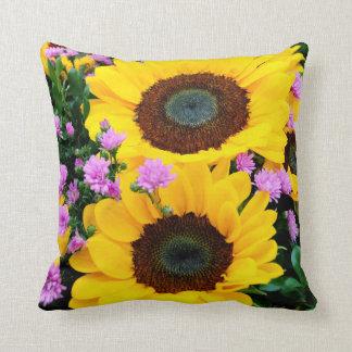 women's trendy sun flower pillow