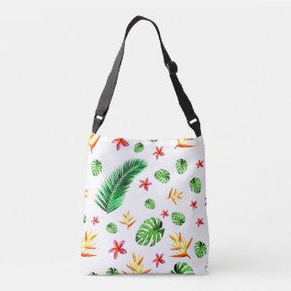Women's Trendy Tropical Leaf Flower Crossbody Bag