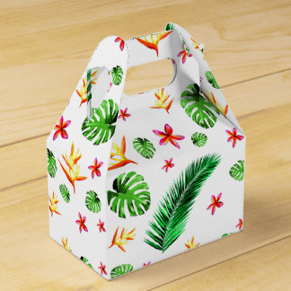 Women's Trendy Tropical Leaf Flower Favour Box