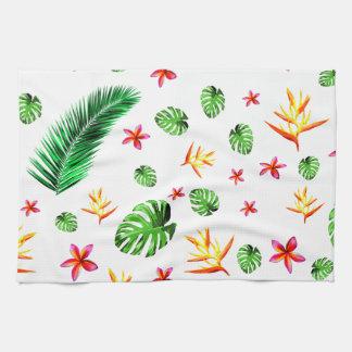 Women's Trendy Tropical Leaf Flower Home Decor Tea Towel