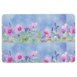 Women's trendy wild  flower floor mat