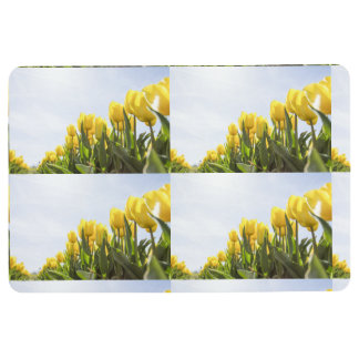 women's trendy yellow rose flower floor  mat