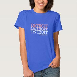 Women's Tri-Color Detroit T Shirts