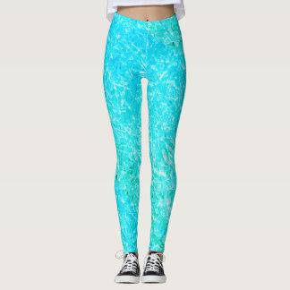 Women's Turquoise Frozen Ice Cool Leggings