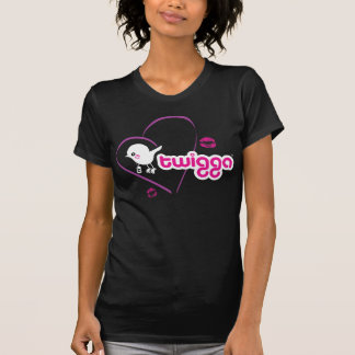 Womens Twigga VNeck Kiss T-Shirt