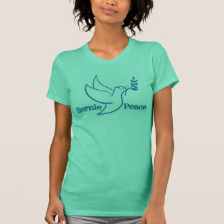 Women's Two Sided Green Peace Bird Shirt