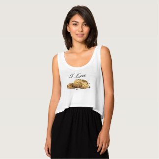 Women's V-Neck I LOVE CHOCOLATE CHIP COOKIES Tank Top