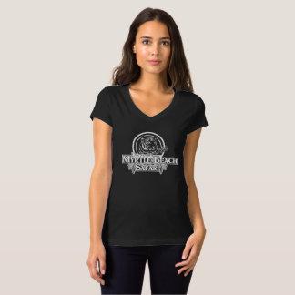 Women's V-neck T-shirt - BLACK