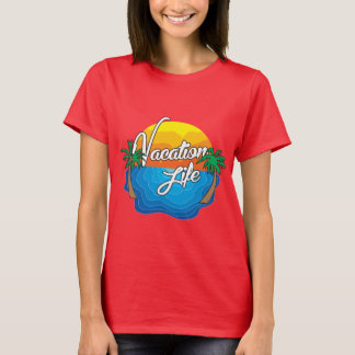 Womens Vacation Life Full Logo Tee