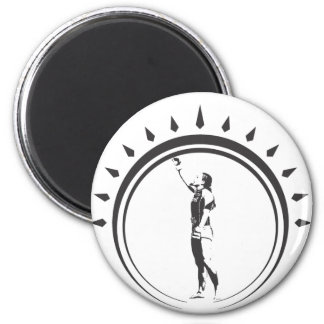 WOMENS VICTORY CROWN.ai 6 Cm Round Magnet