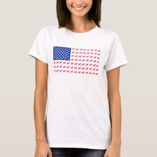 Women's Vizsla American Flag T-Shirt