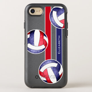 women's volleyball red white blue OtterBox symmetry iPhone 8/7 case