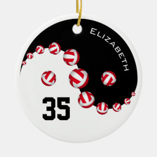 Women's volleyball you choose any color Yin Yang Christmas Ornament