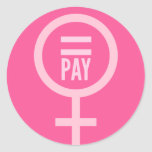 Women's Wages Stickers