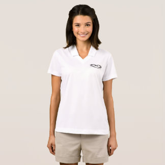 Women's White CMO Polo