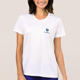 Women's White Dry Fit Shirt w/ Vertical Logo
