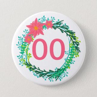 Women's Wreath 18th 21st 30th 40th 50th Birthday 7.5 Cm Round Badge