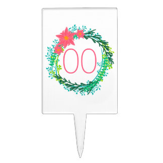 Women's Wreath 60th 70th 80th 85th 90th Birthday Cake Toppers
