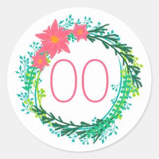 Women's Wreath 60th 70th 80th 85th 90th Birthday Round Sticker