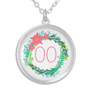 Women's Wreath 60th 70th 80th 85th 90th Birthday Silver Plated Necklace