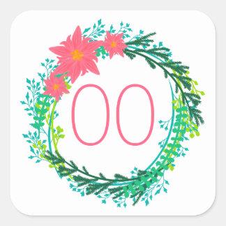 Women's Wreath 60th 70th 80th 85th 90th Birthday Square Sticker