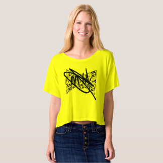 Women's Yellow Camo Crop Top