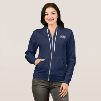 Women's Zip Hoodie Navy_Broadway Elementary Logo