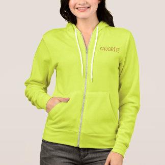 Women's zip hoodie with 'favorite'