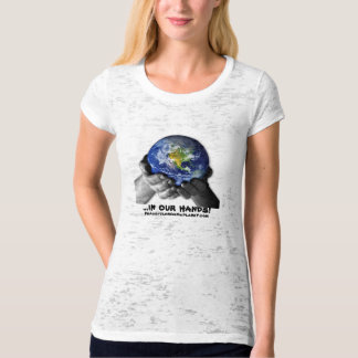 WOME'S TEE SHIRT- EARTH Hands