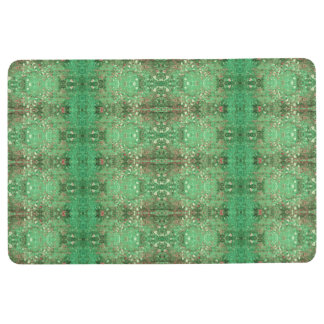 'Wonder' Green and Red Pattern Floor Mat