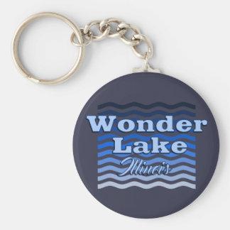 "Wonder Lake Illinois 2.25"" Basic Button Keychain"