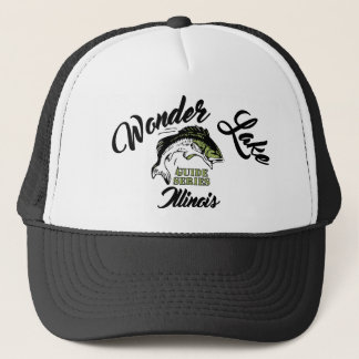 Wonder Lake Illinois Bass Trucker Hat