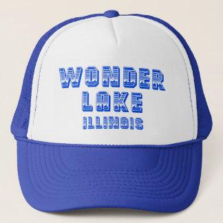 Wonder Lake Illinois Blue Waterline Trucker Hat