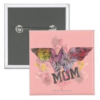 Wonder Mom Mixed Media 15 Cm Square Badge