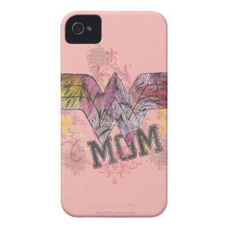 Wonder Mom Mixed Media iPhone 4 Covers