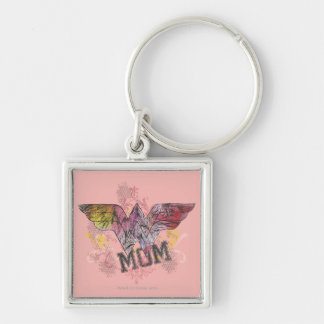 Wonder Mom Mixed Media Key Ring