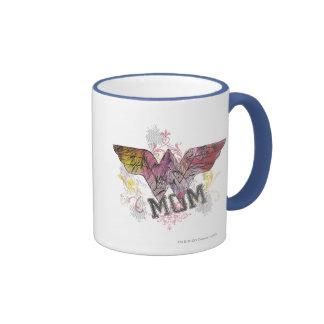 Wonder Mom Mixed Media Ringer Coffee Mug