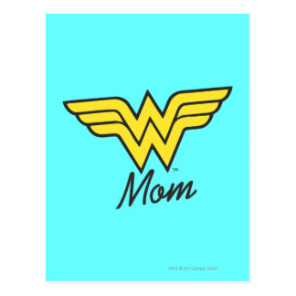 Wonder Mom Mixed Media Postcard