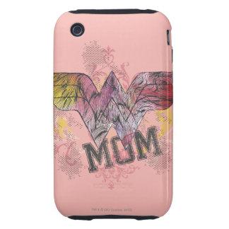 Wonder Mom Mixed Media Tough iPhone 3 Case