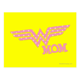 Wonder Mom Pink Postcard
