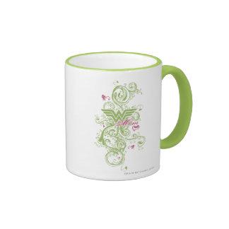 Wonder Mom Swirls Ringer Mug