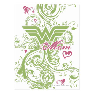 Wonder Mom Swirls Postcard