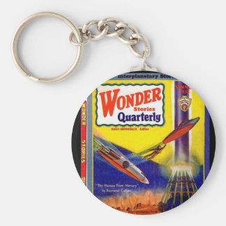 Wonder Stories Quarterly v03 n04 (1932-Su.Stellar) Basic Round Button Key Ring