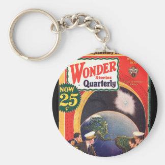 Wonder Stories Quarterly v04 n02 (1933-Wi.Stellar) Basic Round Button Key Ring