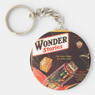 Wonder Stories v04 n03 (1932-08.Stellar)_Pulp Art Basic Round Button Key Ring