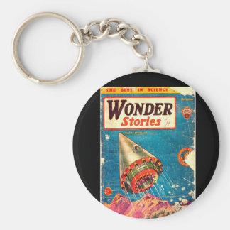 Wonder Stories v06 n07 (1934-12.Continental)_Pulp Basic Round Button Key Ring