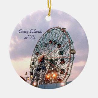 'Wonder Wheel at Twilight' Ornament