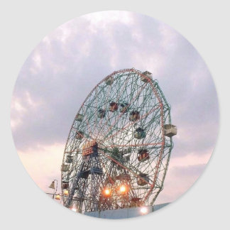 'Wonder Wheel at Twilight' Stickers