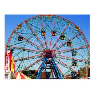 Wonder Wheel - Coney Island, NYC postcard
