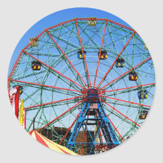 Wonder Wheel - Coney Island, NYC sticker